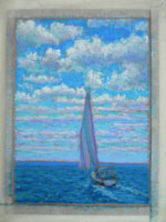 Sailboat painting.